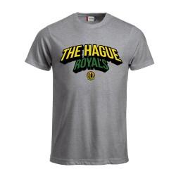 The Hague Royals T-Shirt Tekst - Grijs-Melange