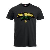 The Hague Royals T-Shirt Tekst - Zwart